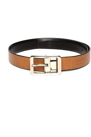 Benetton Men Black & Tan Brown Solid Reversible Formal Belt