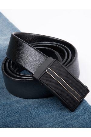 Kastner Men Black Textured Belt