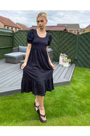 Only Tea dress with puff sleeve in