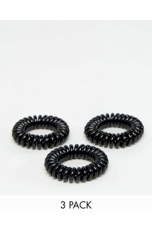 invisibobble 3 pack Power Strong Hair Ties - Black