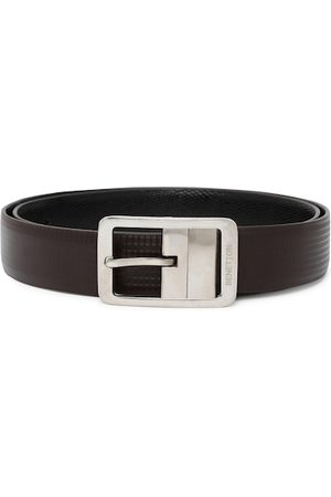 Benetton Men Black & Coffee Brown Textured Reversible Formal Belt