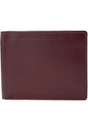 Allen Cooper Men Brown Solid Leather Two Fold Wallet