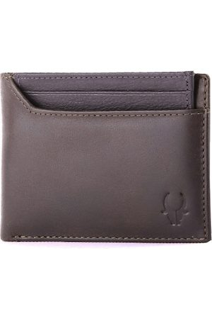 WildHorn Men Brown Solid Leather Two Fold Wallet with RFID