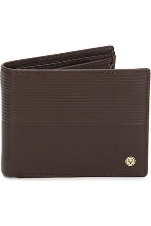 Allen Solly Men Brown Solid Leather Two Fold Wallet