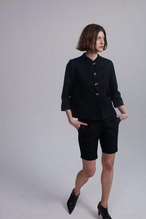 Lindsay Nicholas New York Long M.I.N.Y. Pant in Silk/Wool