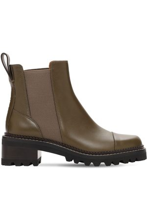 SEE BY CHLOÉ 40mm Mallory Leather Ankle Boots