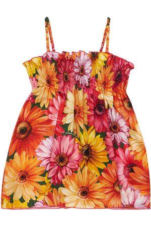 Dolce & Gabbana Gerbera Print Cotton Dress