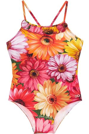 DOLCE & GABBANA Gerbera Print One Piece Swimsuit