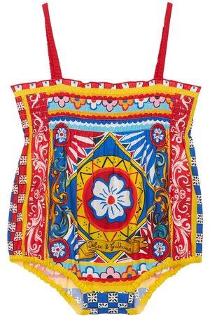 Dolce & Gabbana All Over Print Cotton Bodysuit