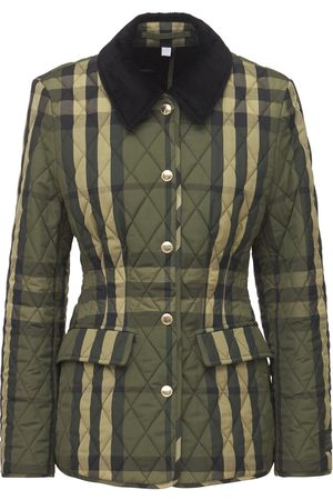 BURBERRY Lydd Check Quilted Jacket