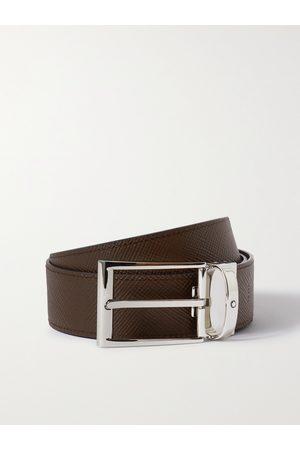 Mont Blanc Men Belts - 3.5cm Reversible Textured-Leather Belt