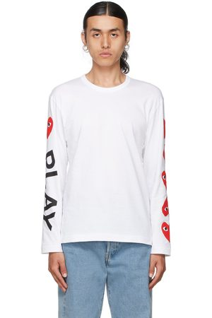 Comme des Garçons Play Multi Hearts Big Logo Long Sleeve T-Shirt