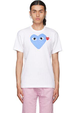 Comme des Garçons Men Short Sleeve - White & Big Heart T-Shirt