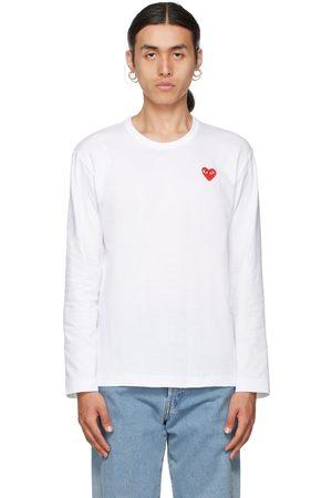 Comme des Garçons Play & Red Heart Patch Long Sleeve T-Shirt