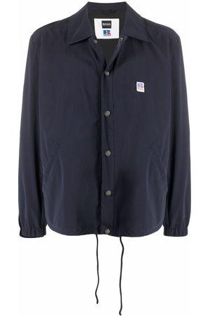 HUGO BOSS Men Shirts - Logo-patch lightweight shirt jacket