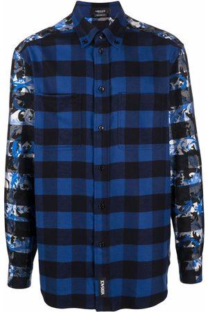 VERSACE Baroccoflage-print plaid shirt