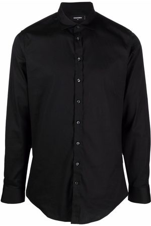 Dsquared2 Men Long sleeves - Long-sleeve stretch-cotton shirt