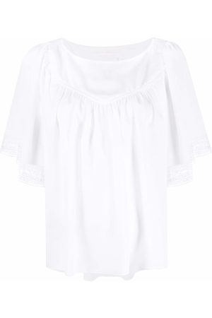 See by Chloé Empire-line short-sleeved blouse