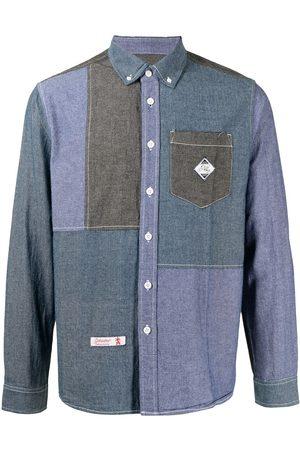 Izzue Men Long sleeves - Patchwork long-sleeve denim shirt