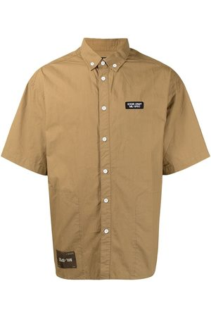Izzue Logo-patch short-sleeve cotton shirt