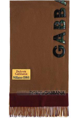 Dolce & Gabbana Logo-appliqué wool scarf