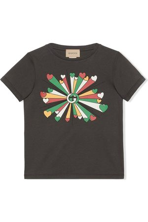 Gucci Kids GG heart-print cotton T-shirt