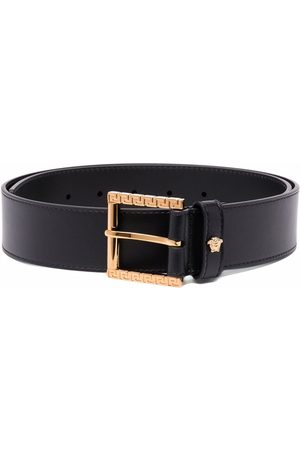 VERSACE Men Belts - Medusa-plaque Greca-detail belt