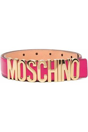 Moschino Logo-plaque adjustable-fit belt