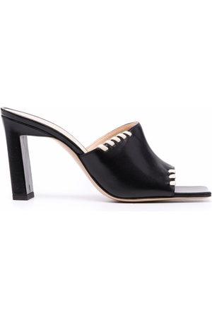 Wandler Mule block-heel sandals