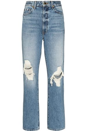 Khaite Abigal ripped high-waisted jeans