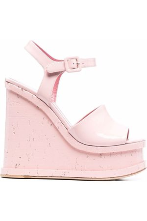 HAUS OF HONEY Lacquer doll patent leather sandals
