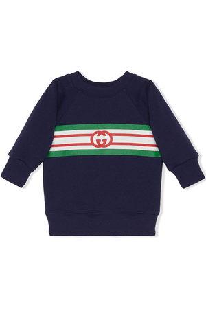 Gucci Sweatshirts - Interlocking G logo-print sweatshirt