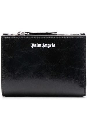 Palm Angels Men Wallets - Crinkled logo wallet
