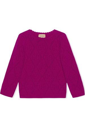 Gucci Kids GG-stitch wool jumper