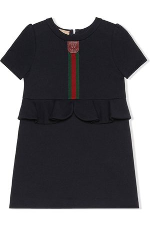 Gucci Girls Dresses - Web-stripe peplum dress