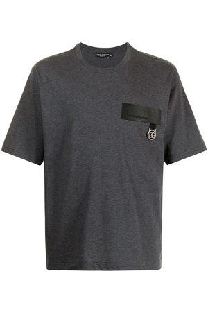 Dolce & Gabbana Men Short Sleeve - Logo-patch short-sleeve T-shirt