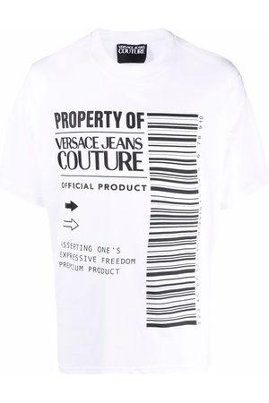 VERSACE Logo-print cotton T-shirt