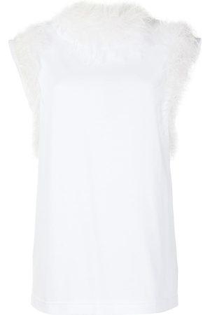 Dolce & Gabbana Ostrich feather-trim blouse