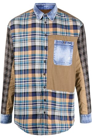 Dsquared2 Panelled check shirt