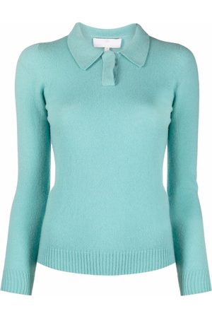 AMI AMALIA Women Polo Shirts - Polo-collar knit jumper