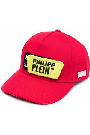 Philipp Plein Logo-patch cotton cap