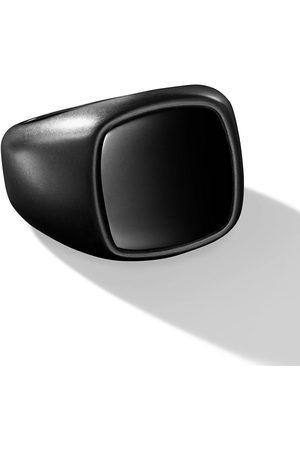 David Yurman Men Rings - Exotic Stone inlay cushion signet ring