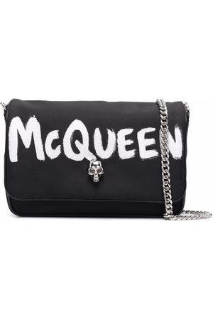 Alexander McQueen Logo-graffiti-print crossbody bag