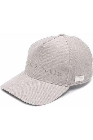 Philipp Plein Slogan-patch corduroy cap
