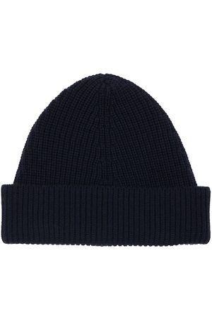 MAISON MARGIELA Men Beanies - Cotton & Wool Blend Beanie Hat