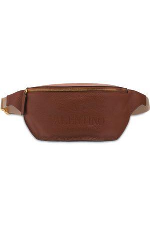 VALENTINO GARAVANI Men Belts - Logo Leather Belt Bag