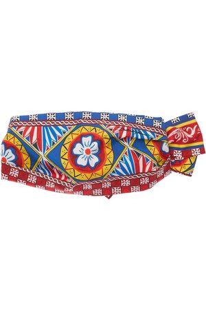 Dolce & Gabbana Girls Headbands - All Over Print Cotton Headband