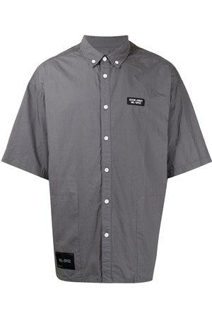 Izzue Men Short sleeves - Logo-patch short-sleeve cotton shirt