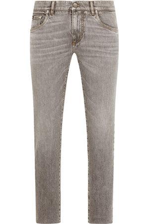 Dolce & Gabbana Logo-plaque slim-fit jeans