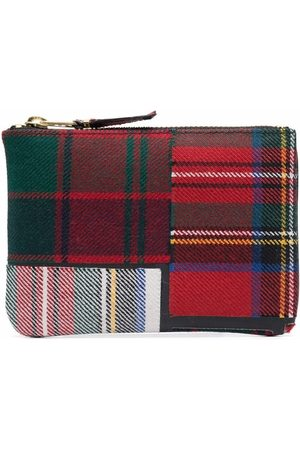 Comme des Garçons Tartan-patchwork wallet